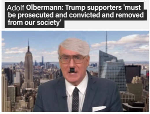 quote adolf olbermann trump supporters removed from society