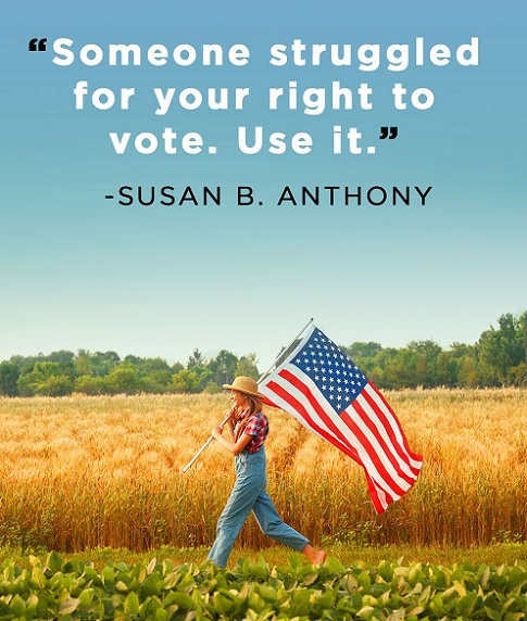 quote susan b anthony someone struggled for right to vote use it