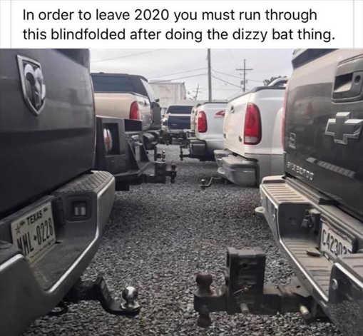 to leave 2020 dizzy bat run blindfolded bumper trucks