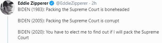 tweet eddie zipperer biden packing the court positions over the years now