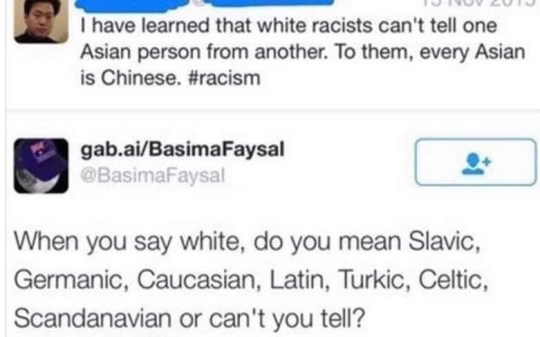 tweets chinese racism white caucasian latin slavic celtic
