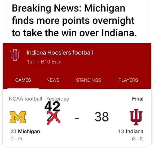 breaking news michigan finds points overnight beats indiana