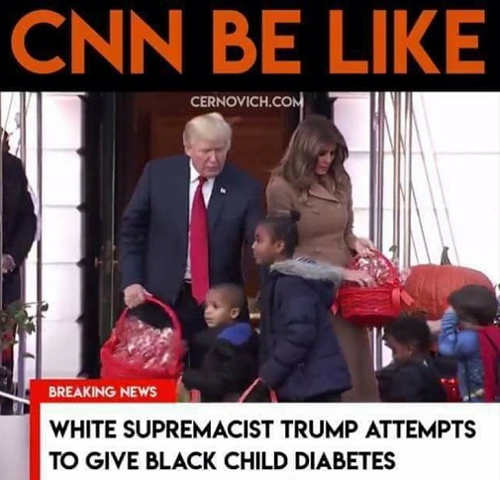 cnn white supremacist trump attempts to give black kids diabetes