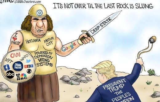 deep state not over til last rock is slung trump vs cnn facebook abc twitter npr fox msnbc google