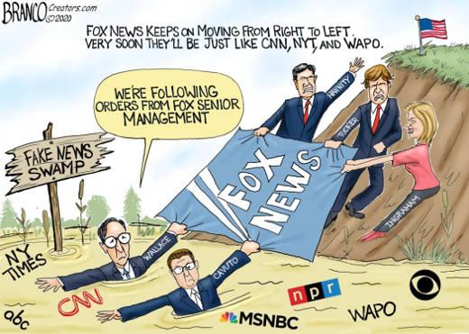 fox news hannity tucker ingraham dragging fox news away from fake news swamp cnn msnbc nyt post
