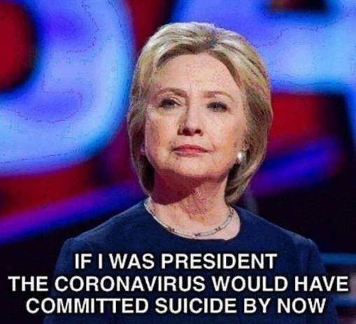 hillary clinton if i was president corona covid would have committed suicide by now