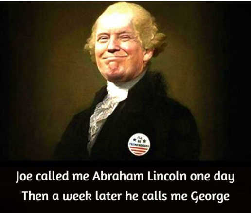 joe biden called trump abraham lincoln one day week later george