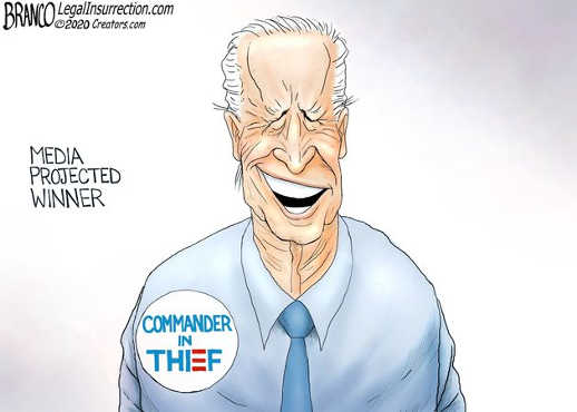 joe biden projected winner commander in thief