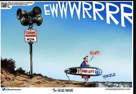 media tsunami blue wave warning trickle