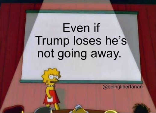 message lisa simpson even if trump loses hes not going away