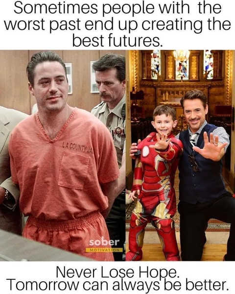 message people with worst past best futures robert downey jr
