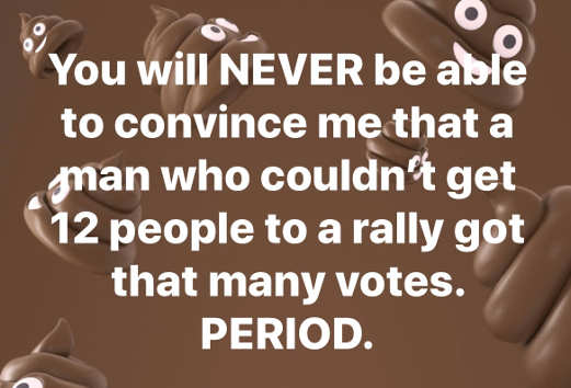 message you will never convince me guy 12 people rally got that many votes