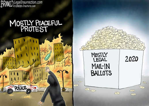 mostly peaceful protest mostly legal ballots