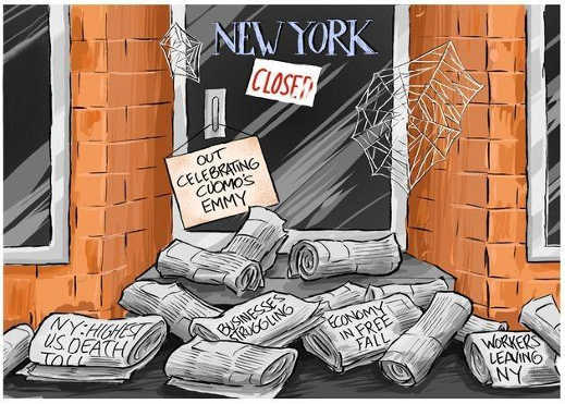 new york closed out celebrating cuomos covid emmy highest death toll economy free fall