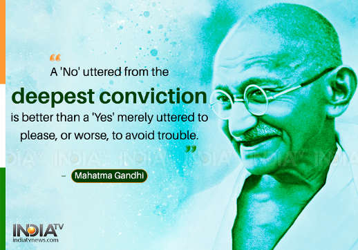 quote gandhi no uttered in deepest conviction better than yes to avoid trouble or please