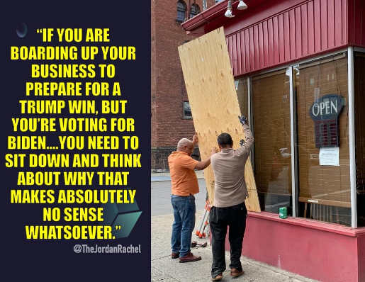 quote if you are boarding up business prepare for trump win no sense