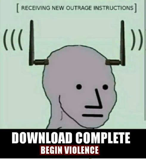 receiving new outrage instructions download complete begin violence