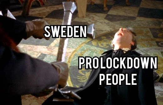 sweden prolockdown people exorcism