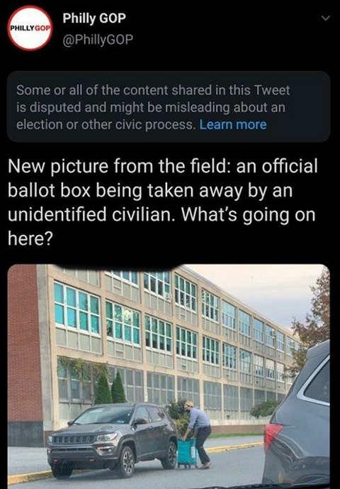 tweet new picture from field official ballot box taken away