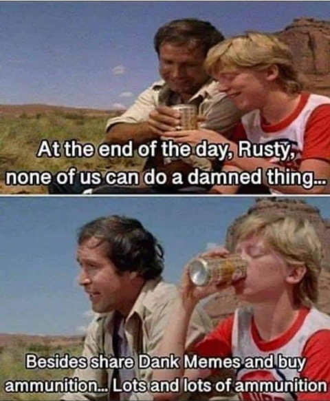 vacation rust none of us can do damned thing share memes stock ammunition