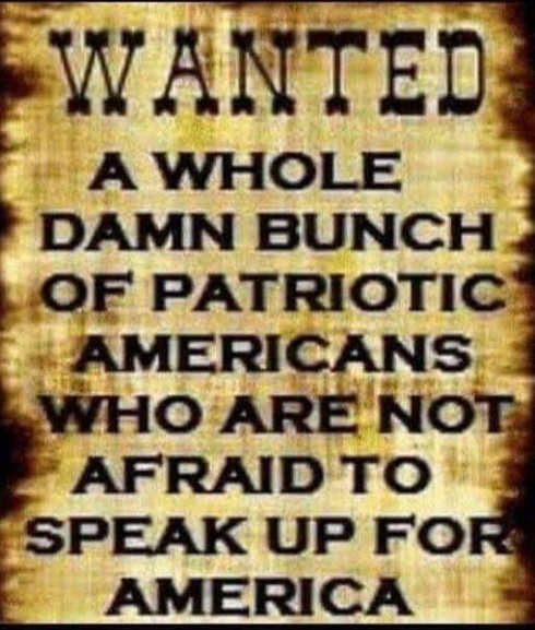 wanted poster patriots willing to speak up to save america