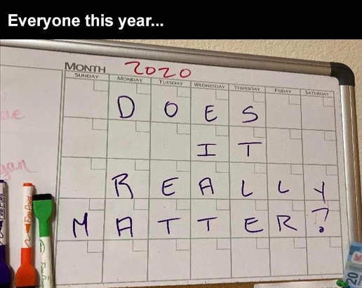 2020 calendar does it really matter this year