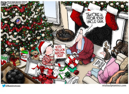 28 trillion dollar debt christmas this ones from uncle sam kid
