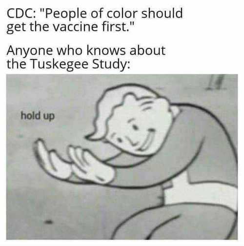 cdc people of color should get vaccine first anyone knows tuskegee study hold up
