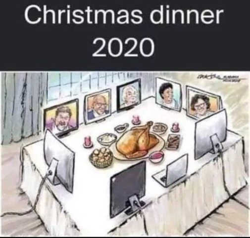 christmas dinner zoom table 2020