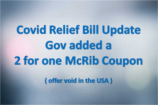 covid relief bill update 2 for 1 mcrib coupon not good in usa