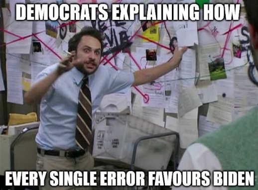democrats explaining how every single error favors joe biden sunny in philadelphia