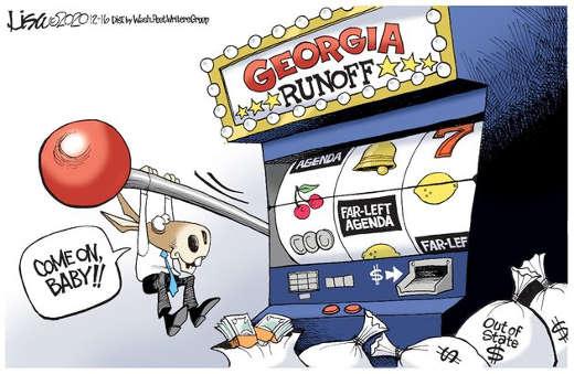 georgia slot machine democrats come on far left agenda