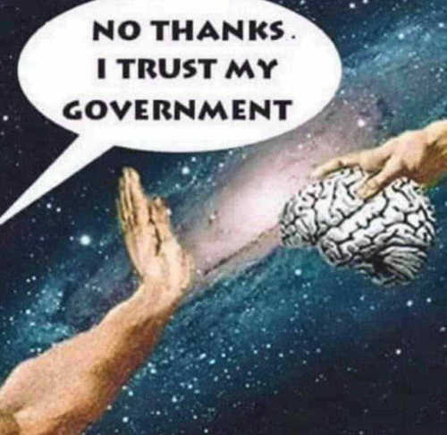 handing brain no thanks i trust my government