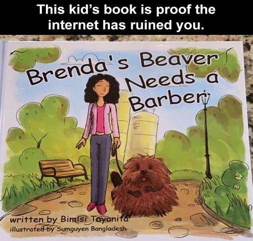 kids book proof internet ruined brendas beaver needs barber