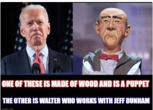 one is joe biden wooden puppet other walter jeff dunham