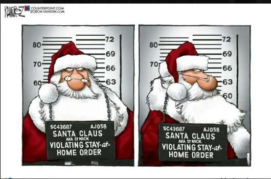 prison photo santa claus violating stay at home order