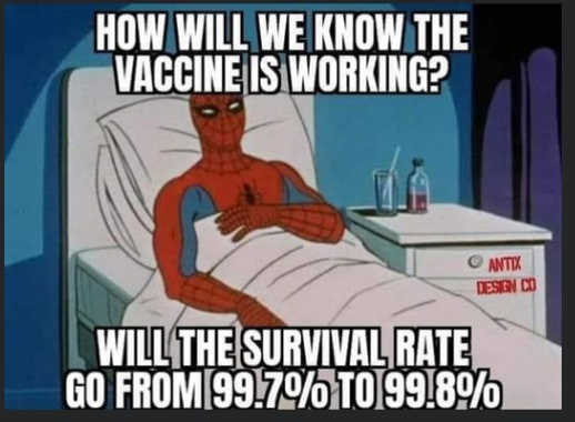 question how will we know if vaccine is working survival from 99.7 to 99.8 percent
