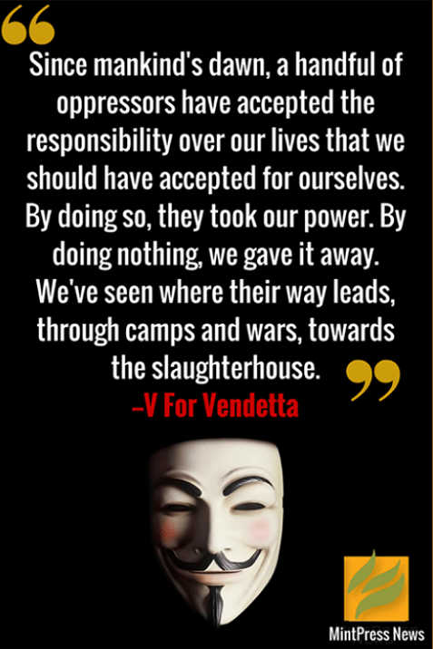 quote v vendetta since mankinds dawn handful oppressors accepted responsibility leads to wars camps