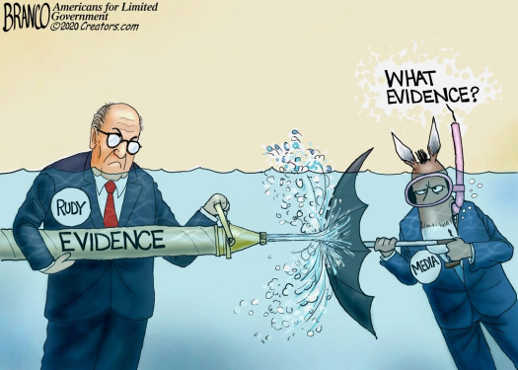 rudy guiliani voter fraud evidence media what evidence