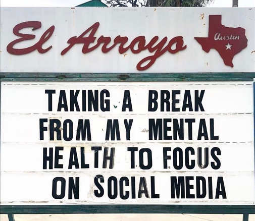 sign taking break from mental health focus social media