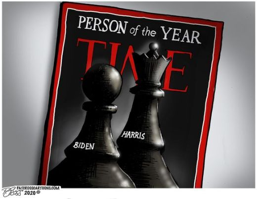 time person of the year biden pawn harris queen