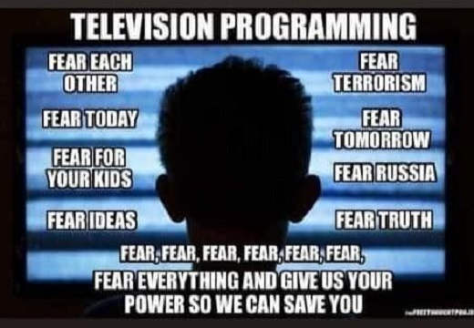 tv programming fear each other terrorism russia truth ideas give us power so we can save you