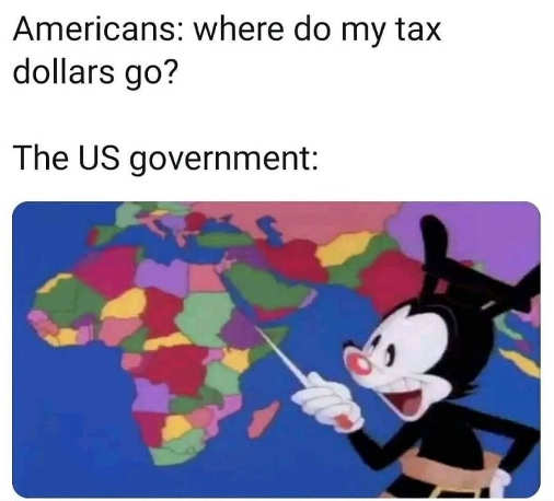americans where do my taxes go us government africa mickey mouse