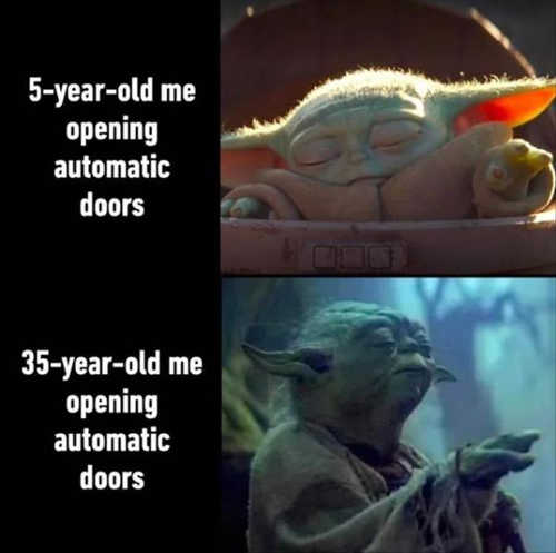 baby yoda 5 year old 35 opening automatic doors