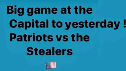 big game yesterday patriots vs stealers