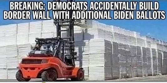 breaking democrats accidentally build border wall with biden ballots