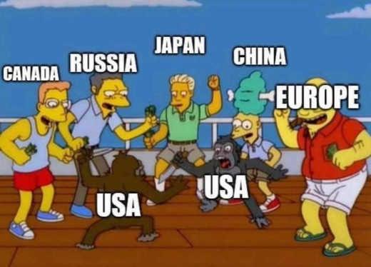 canada russia china europe cheering usa fighting