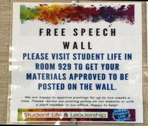 college free speech wall see for approval
