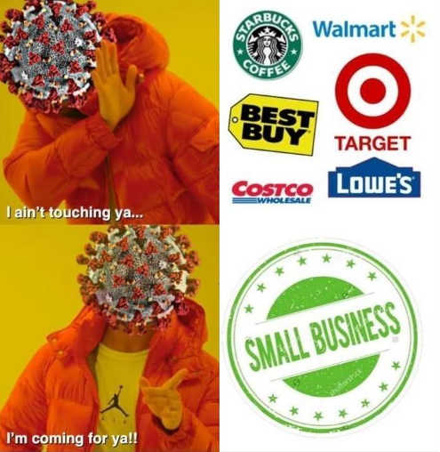 coronavirus covid not coming for target walmart costco small business yes