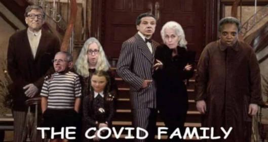 covid addams family bill gates dr fauci cuomo